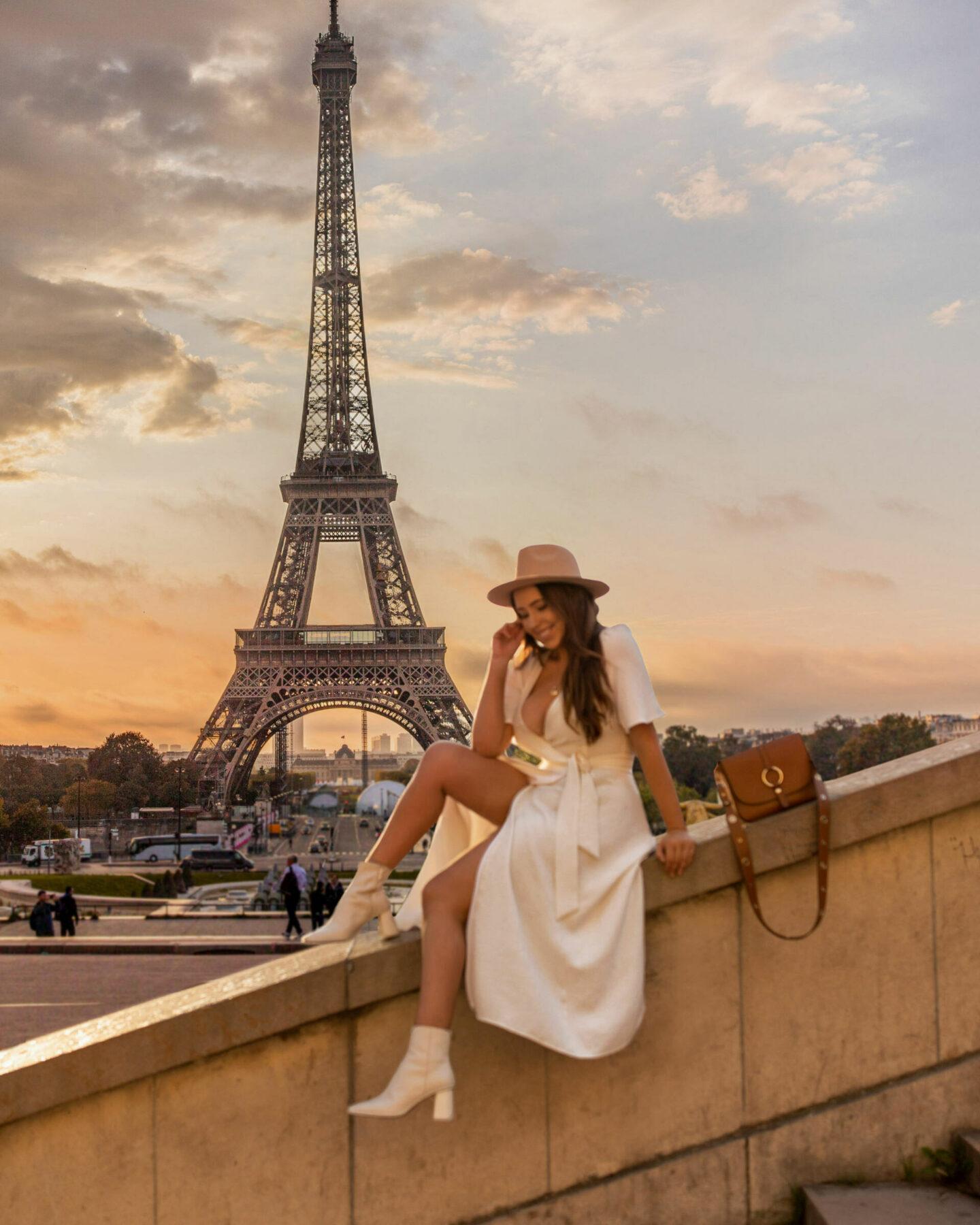 Paris Instagrammable Locations kelseyinlondon kelsey heinrichs things to do in Paris bucketlist eiffel tower Trocadéro