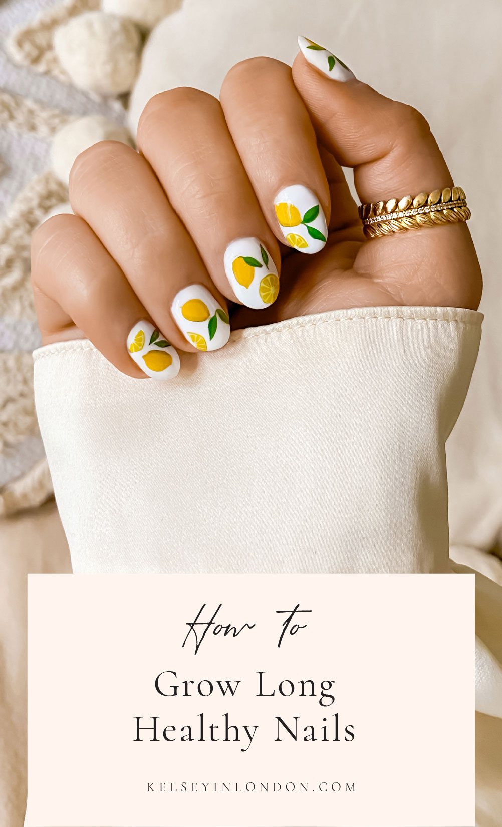How to grow long healthy nails - DIY Gel Manicure - Nail Step-by-step Tutorial Nail Art Design Ideas @kelseyinlondon - Kelsey Heinrichs