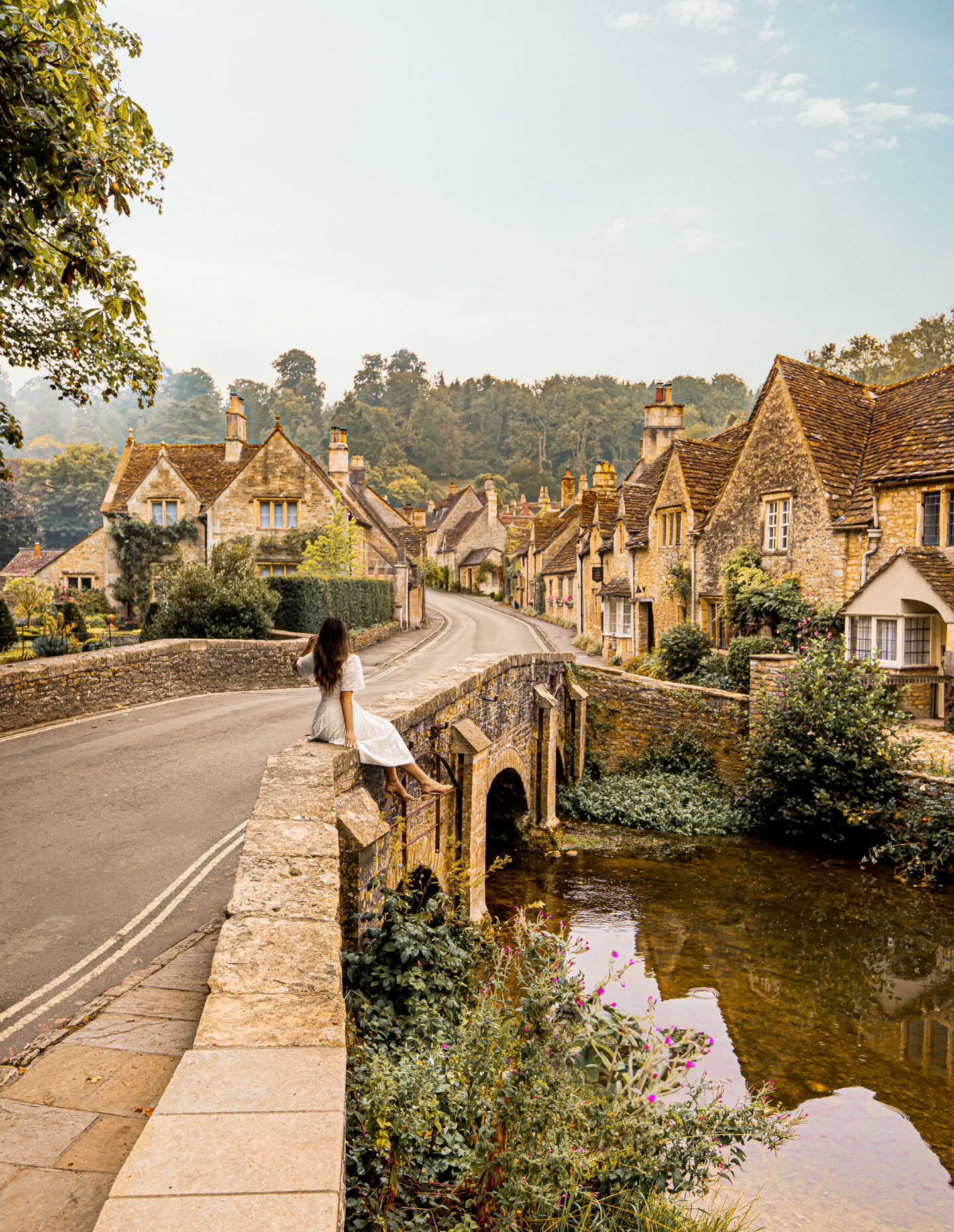 Uk road trip Somerset the cotswolds castle Combe Kelsey Heinrichs kelseyinlondon England travel camptoo campervan holiday the golden retriever experience