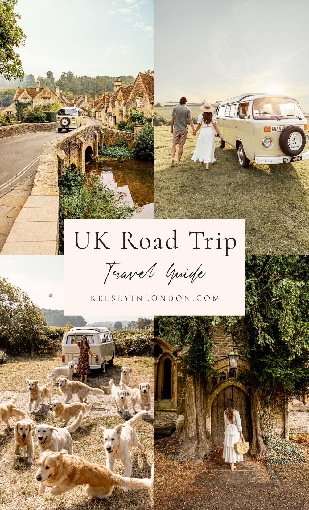 Uk road trip Somerset the cotswolds castle Combe Kelsey Heinrichs kelseyinlondon England travel camptoo campervan holiday